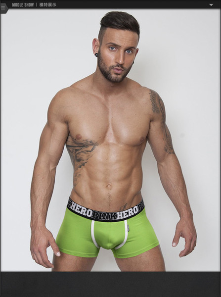 best selling 1236 Wholesale PINKHERO Underwear For Men.Boxer Shorts,Cotton Underpants,Free Shipping!2016 New Style.