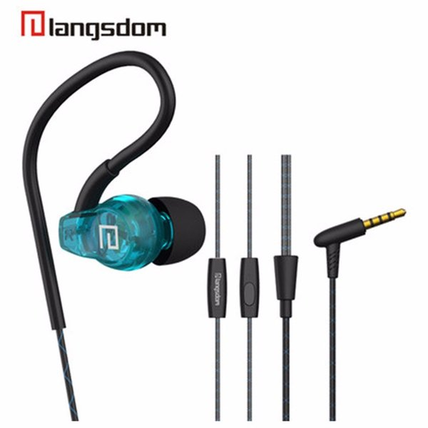 Langsdom SP80A 3.5mm In-ear Sport Earphones Super Bass Headsets Hifi Running Earbuds Stereo Earphone With Mic For all mobile phone