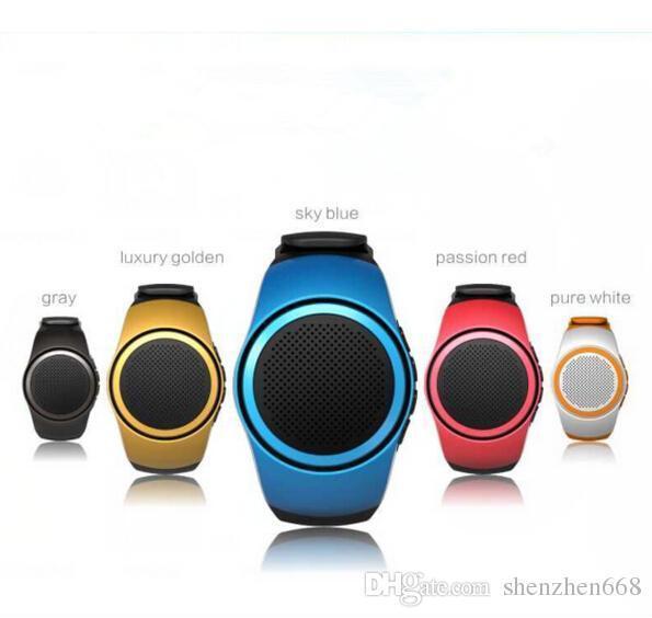 B20 smart watch with self-timer anti-lost alarm music sport mini Bluetooth speaker support TF card FM radio hands-free 24-YX