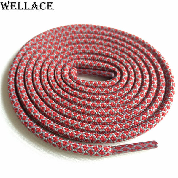 Wellace 4.5mm diameter hiking running rope laces replacement mens shoelaces kids polyester shoe strings round Ropelaces Kith Style 120cm