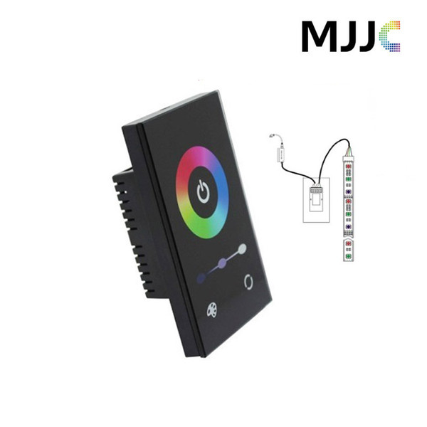 Controlador fixado na parede padrão do diodo emissor de luz do RGB do painel de toque do padrão de América para a luz de tira do diodo emissor de luz de 12-24V 5050 RGB