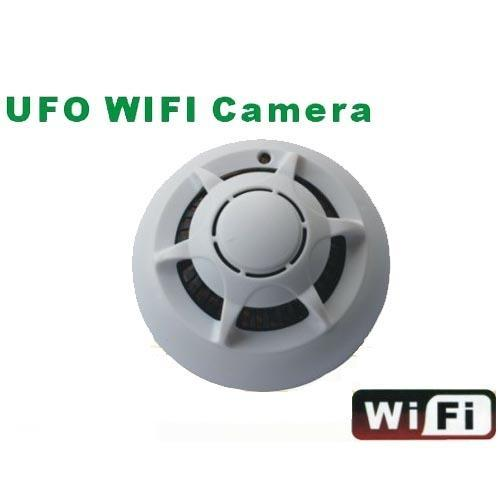 Smoke Detector Design Wifi Home Security Camera With Network Remote Video Function