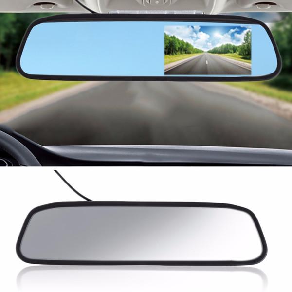 "Car Monitor 4.3"" Screen TFT LCD Color Rearview Mirror Monitor Reverse Car Rear View Backup Camera DVD 12V"