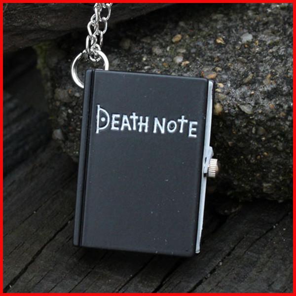 Fashion Death Note Pocket Watch nero bronzo quaderno quadrato collana pendente libro Orologi al quarzo per uomo donna regalo di Natale 230146