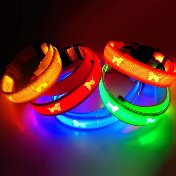 Dog Cat LED Collars Pet Flashing LED Collars Multiple Colors Pet Necklace Retail Package
