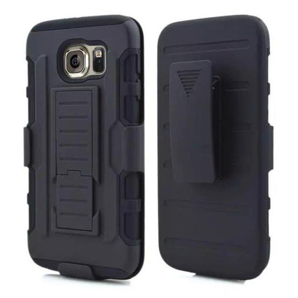 Coque rigide pour Note5 Armor Impact Hybrid avec étui de ceinture etui antichoc pour Samsung Galaxy S6 Edge S6 Note5 Iphone 6 Plus 5