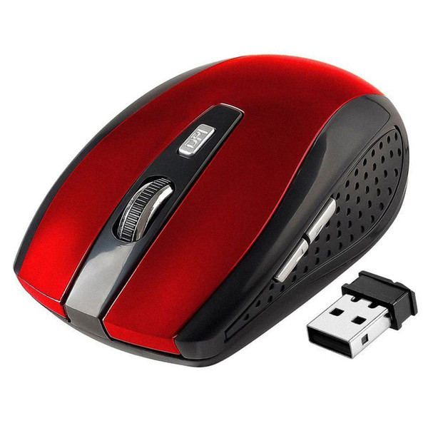 top popular 2.4GHz USB Optical Wireless Mouse USB Receiver mouse Smart Sleep Energy-Saving Mice for Computer Tablet PC Laptop Desktop Free DHL Shipping 2019