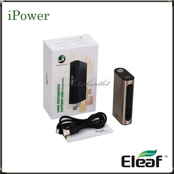 Eleaf iStick Power TC Bateria Mod com Bateria Integrada de 5000mAh iPower Mod Saída Max 80W 510 Spring Connector 100% Original