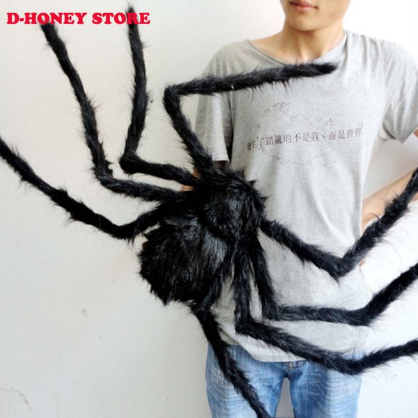 Halloween Horror Ghost Props 30cm,75cm spider Toys Party Bar Decorative Props Supplies Large Plush Spider Haunted House
