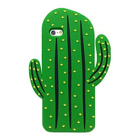 Cute 3D Cartoon Lovely Plants Design Soft Silicone Back Case Cover for iPhone 6 6G 6S 4.7''