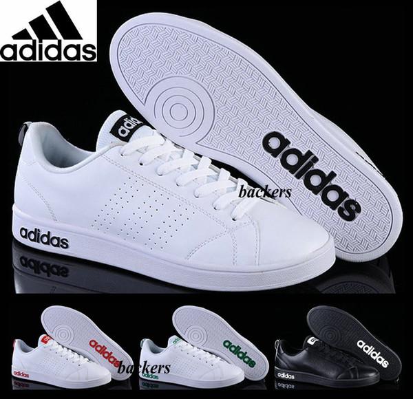 Acheter Originaux Adidas Neo PU Chaussures De Course Pour Homme Originals Cheap Casual Sneakers Sport Homme Cuir Blanc Noir Taille 40 44 Livraison