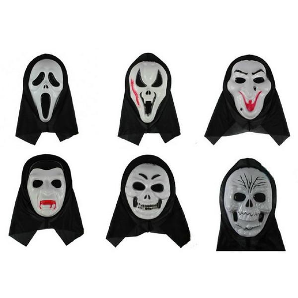 50pcs Horror Maschera di Halloween Destinazione finale Serie di film Maschere spaventose Cosplay Masquerade Prop Full Face Anonymous Masque LH1278