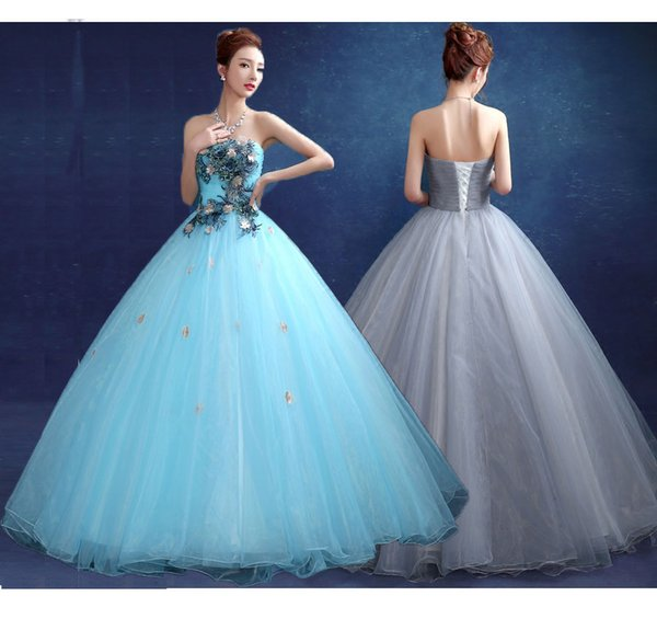 Cheap Vestidos Quinceanera Dresses 2016 Strapless Ball Gown Lace Up ...