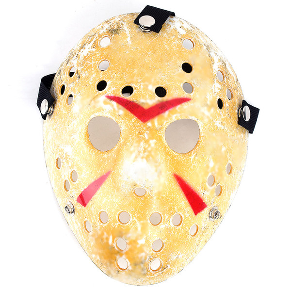 Gold White Vintage Party Masks Delicated Jason Voorhees Freddy Hockey Festival Halloween Masquerade Mask Free Shipping