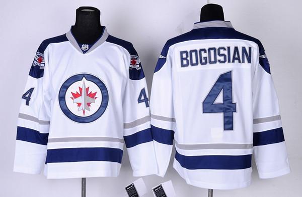 ... 2016 Winnipeg jets Ice Hockey Jerseys 4 Zach Bogosian Jersey Men Home  Third Alternate Blue White ... de9f5163f