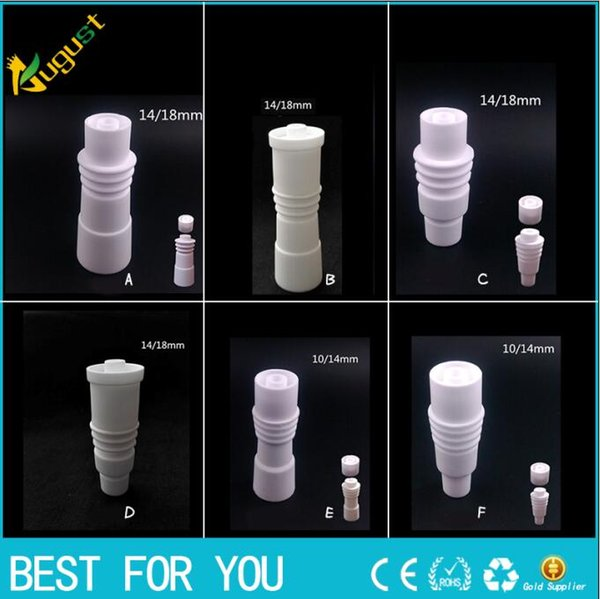 Hot slae High quality 14mm 18mm domeless Ceramic Nails with heating ring Male & Female joint Ceramic carb cap ceramic nail VS titanium nail