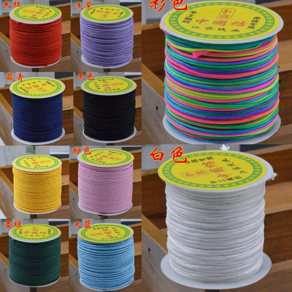 40 meters/roll Nylon Cords 1.5mm Chinese Knotting Shamballa Macrame Rattail Braided Knot Beading Thread String Craft DIY Jewelry Findings