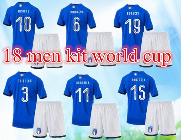 classic fit 1c666 5569f 2019 2018 Italy Adult Kits Soccer Jersey 17 18 WC National Team Russia  CHIELLINI EL SHAARAWY BONUCCI INSIGNE IMMOBILE Verratti FOOTBALL SHIRTS..  From ...