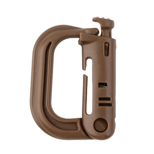 D Shape Climbing Carabiner Screw Lock Bottle Hook Buckle Hanging Padlock Keychain Camping Hiking Snap Clip New