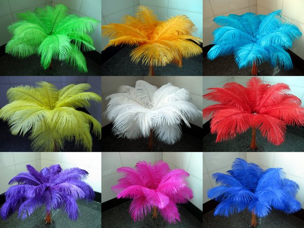 best selling Wholesale a lot 12-14inch 30-35cm beautiful ostrich feathers for Wedding centerpiece Table centerpieces Party Decoraction supply FEA-001