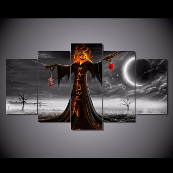 5 Pcs/Set HD Printed halloween design Painting Canvas Print room decor print poster picture canvas artists paintings