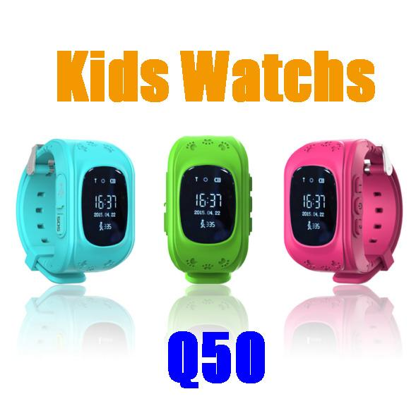 Q50 kids watch Smart Watch GPS Tracker SOS Kids Electronic Fence Two Way Communication Smart Phone App Wearable Devices Finder OLED DHL free