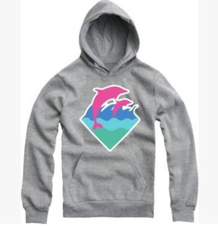 Brand Hip Hop Men and Women Pink Dolphin Hoodies Hedging Sports Thick Cotton Hoody Pink Dolphin Men Sweatshirts Free shipping