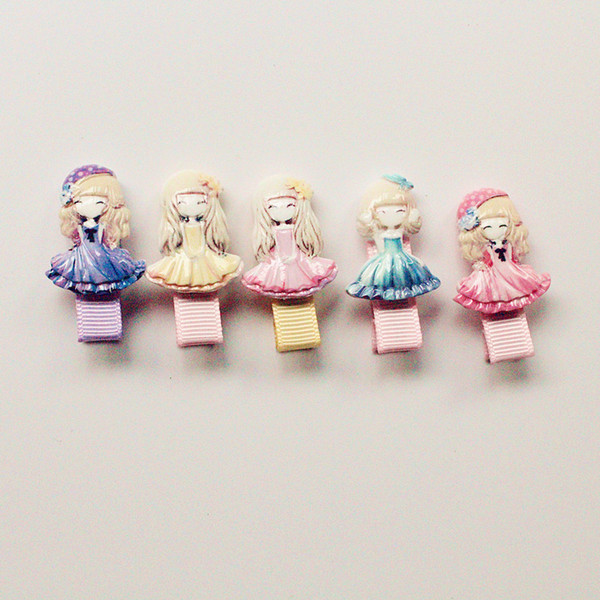 New 2016 Plastic Hair Clips for Baby Girls Wholesale Cheap Hotsale Princess Girls Acrylic Barrettes Baby Hairpin Free Shipping