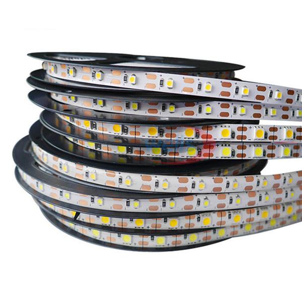 Sıcak satış 5 M 300 Leds su geçirmez RGB Led Şerit Işık 5630 3528 5050 DC12V 60 Leds M Fiexble Işık Led Şerit Bant Ev Dekorasyon Lambası