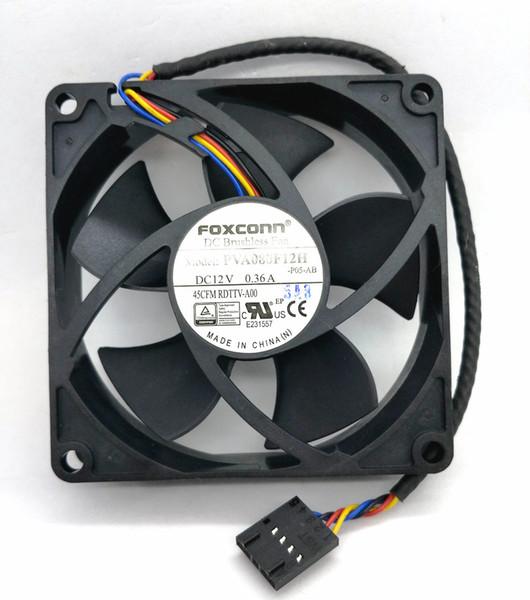 New Original Foxconn PVA080F12H 12V 0.36A 80*80*20MM For OptiPlex990 725Y7 4Lines Computer cooling fan