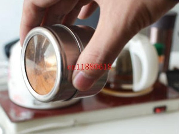 100pcs/lot Free Shipping Magical magnetic Stainless steel spice jar monosexuality tank sauce pot seasoning bottle 160404#