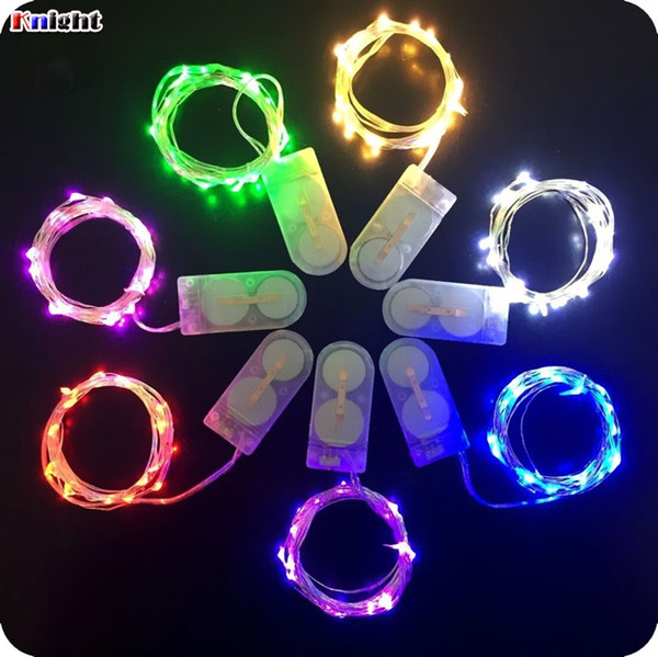 mini butter led copper light 1M/2M/3M/4m coin battery operated Copper wire led fairy string light for wed party flower arrangement 50pcs/lot