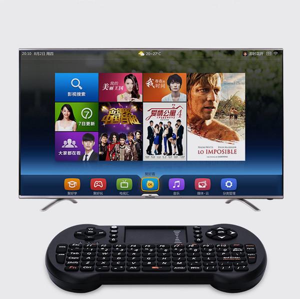 Mini tastiera senza fili 2.4GHz Tastiera inglese Mouse Air Telecomando Touchpad per Android TV Box Notebook Tablet PC