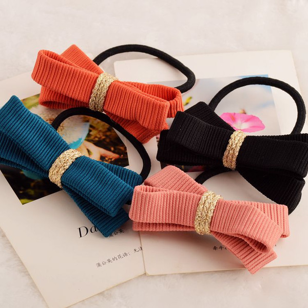 Bow Elastic Band for Women Girls 2018 Flower Rubberband Mix Colors 30pcs Hair Tie Accessories Hairband Korean Style Headpieces Jewelry Store