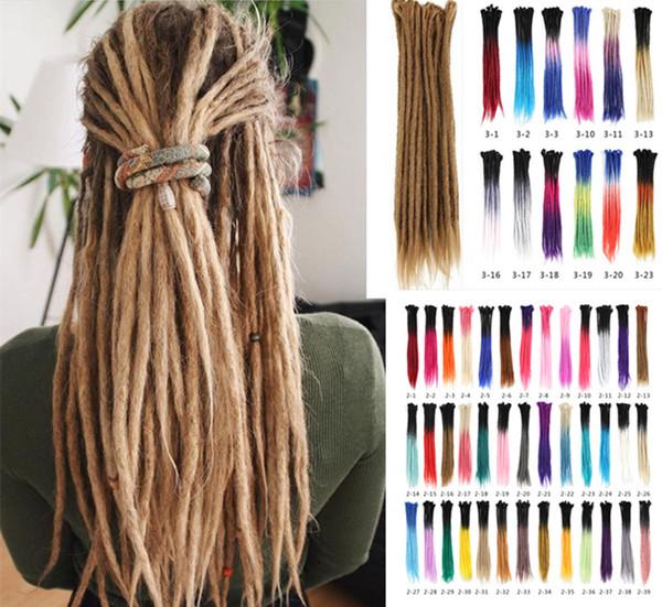 top popular 5 Roots one lot Dreadlocks Hair Different Colors Crochet Marley Handwork Hair Kanekalon Crochet Braiding Synthetic Hair Extentions 2020