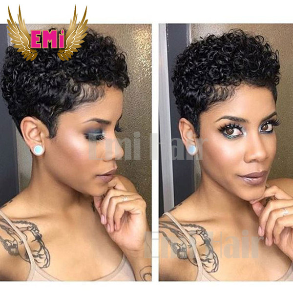 Short Human Hair WigsBrazilian Tight Curly