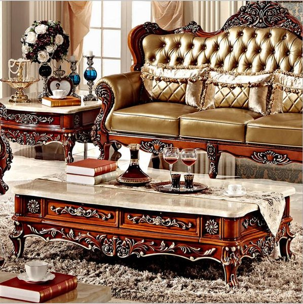new arrival hot selling antique European style French Italian hand carved natural marble coffee table pfy10005