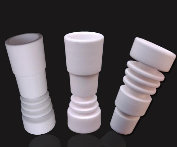 TOP Quality 14mm &18mm Domeless Ceramic Nail Fit Male&Female Joints VS Titanium Nails For Glass Bong Water Pipe Ceramic Nails