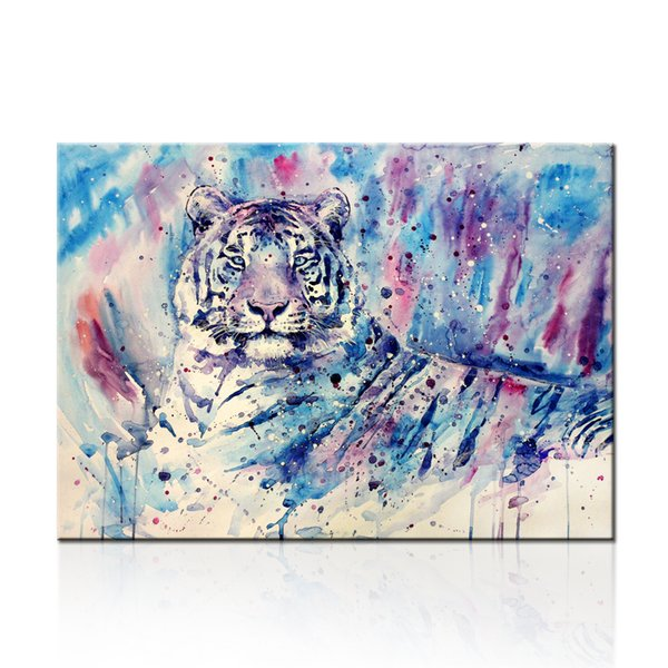 Modern Canvas Paintings Watercolor Tiger Dropship Print 1 Panel Home Decor For Living Room Decor Home Decoration Wall Hanging Unframed