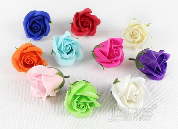 """50pcs 2"""" Multicolor Artificial Flower Rose Soap For Wedding Party Birthday Souvenirs Gifts Favor Home Decoration"""