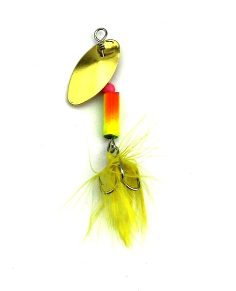 HENGJIA 5pcs new metal fishing lure spoon spinner fishing bait bass baits spinning bait with feathers and hair hooks 5.5cm 3.7g