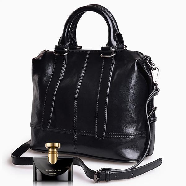 Moda Feminina Bolsas de Couro Genuíno Mulher Top Quality Bolsas Grande Capacidade Totes Simples Nova Sacos Crossbody 3 Cores FA018