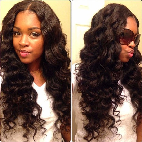 Hot Sale Synthetic Lace Front Hair Wigs High Quality Heat Resistant Black Body Wave Synthetic Wig For Blace Women African American Wigs