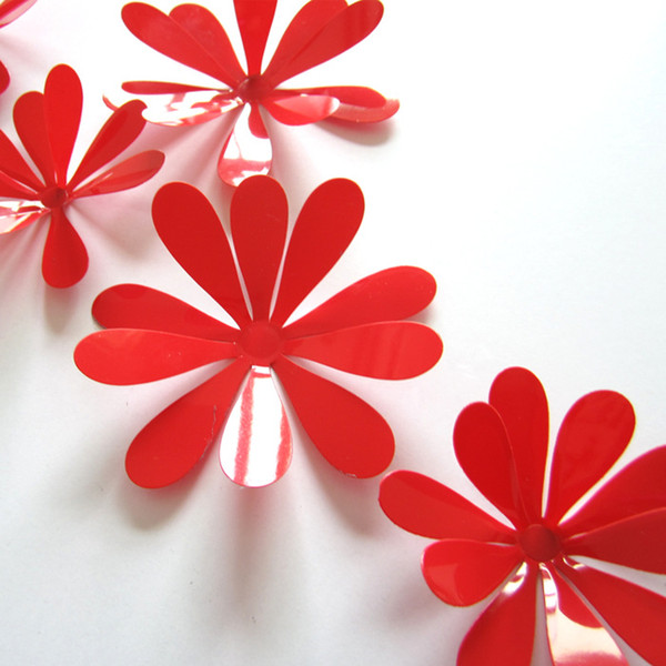 12Pcs /set 3D Flower Sticker Art Decal Wall Home Decor Room Decorations multi colors free shipping HY1143