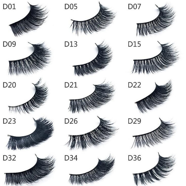 buona qualità 3d visone ciglia di spessore vero visone capelli ciglia finte naturali per bellezza trucco estensione ciglia finte false ciglia 15 modelli
