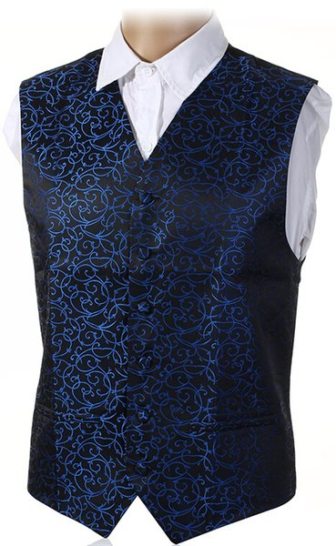 """top popular Fall-New Mens Top Swirl Wedding Waistcoat Chest Available S-5XL UK Size 36""""-50"""" 2020"""