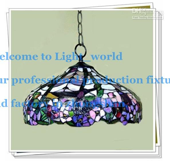 Tiffany Style Elegant Stained Glass Pendant Light Dragonfly Pattern Dining Room Chandeliers 1020