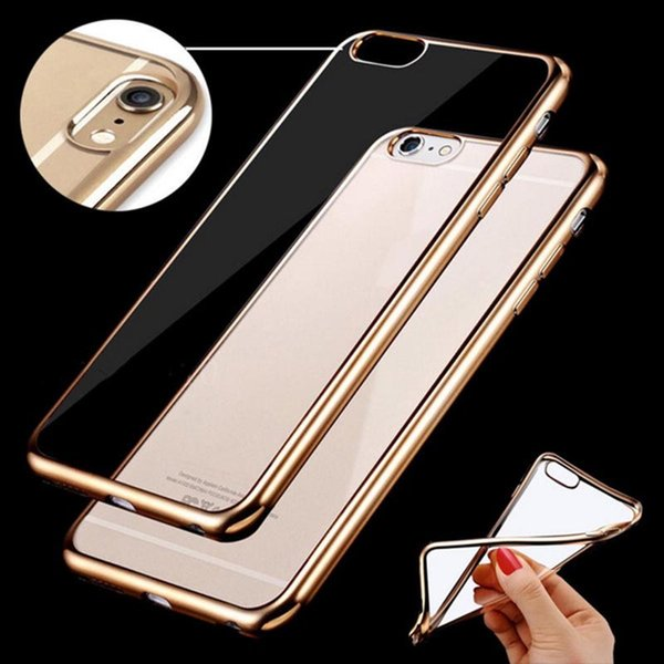 Electroplating Silicone Soft TPU Gel Case Cover Bumper for iPhone SE 6 6s Plus