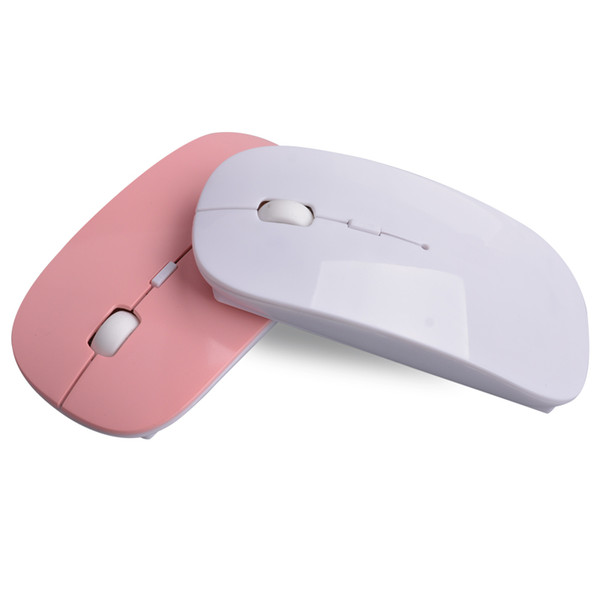 Ultra Thin USB Optical Wireless Mouse 2.4G Receiver Super Slim Mouse For Computer PC Laptop Desktop 6Candy color