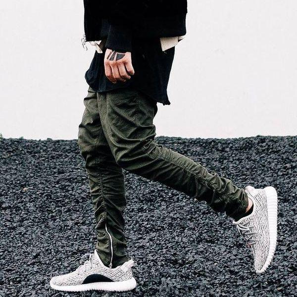 top popular Kanye West Pants Men Ankle-Zip Biker Pants Slim Skinny Cotton Casual Trousers Sports Jogger Pants Hip-Hop Streetwear LGF0605 2019